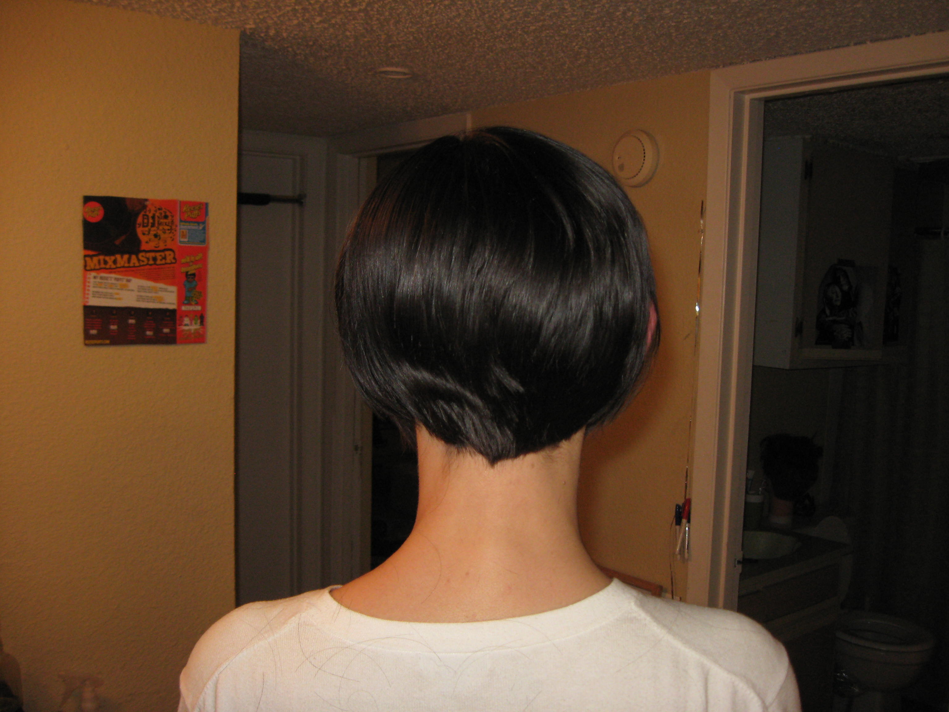 Very Short Bob Hairstyles Back View Here's the after back view: