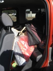 jam packed car